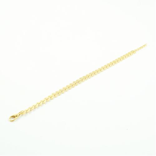 bracelet plaqué or epona e forme d'épis sur fond blanc