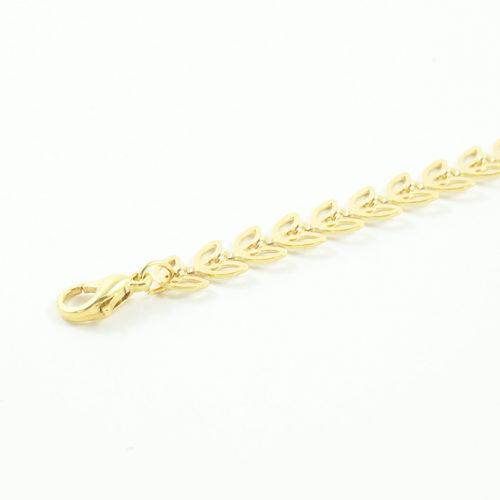 bracelet plaqué or epona e forme d'épis ajouré sur fond blanc