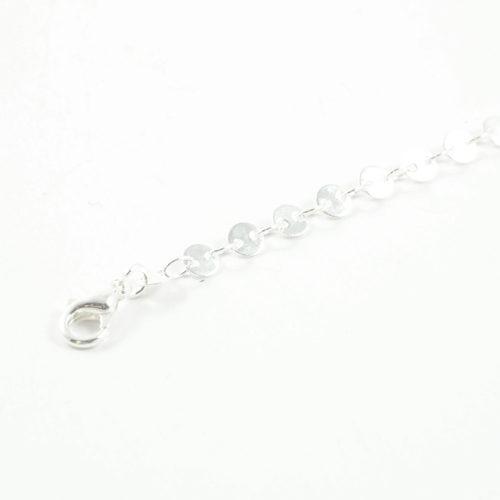 bracelet plaqué argent roa e forme d'anneaux sur fond blanc