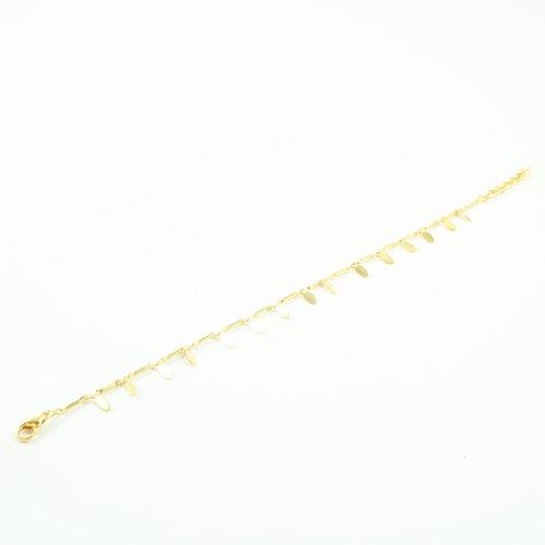 bracelet plaqué or sezane forme de guirlande sur fond blanc