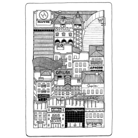 quartier barceloneta en carte
