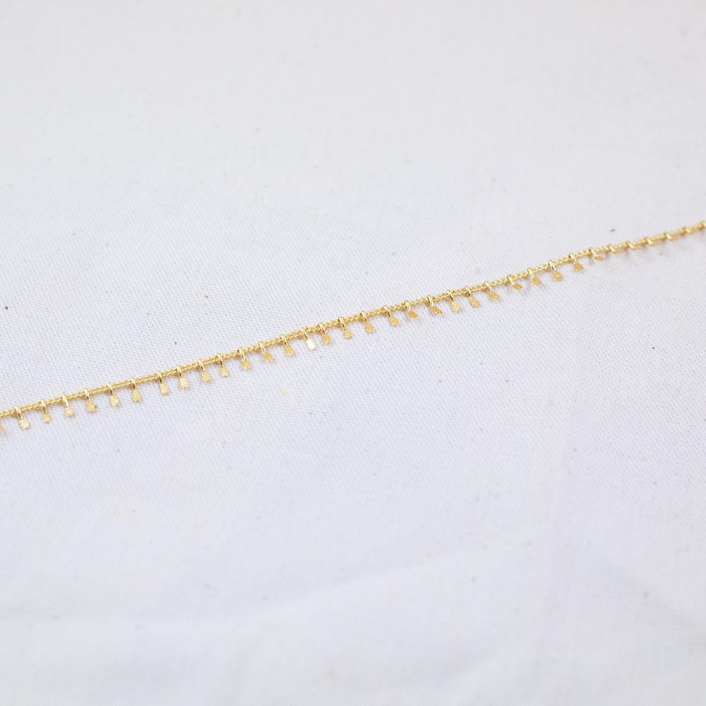 collier acier inoxydable doré anna chaine crocheté